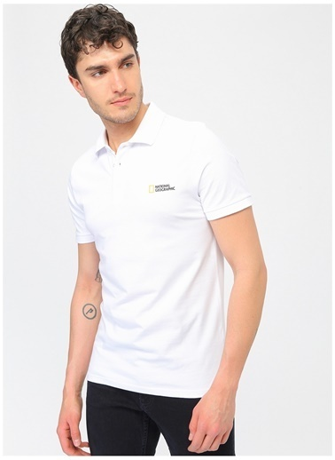 National Geographic National Geographic Beyaz Polo T-Shirt Beyaz